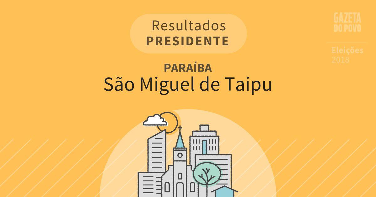 Resultados para Presidente na Paraíba em São Miguel de Taipu (PB)