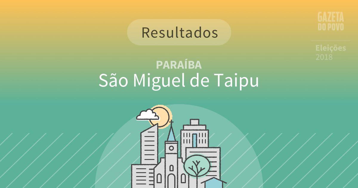 Resultados da votação em São Miguel de Taipu (PB)