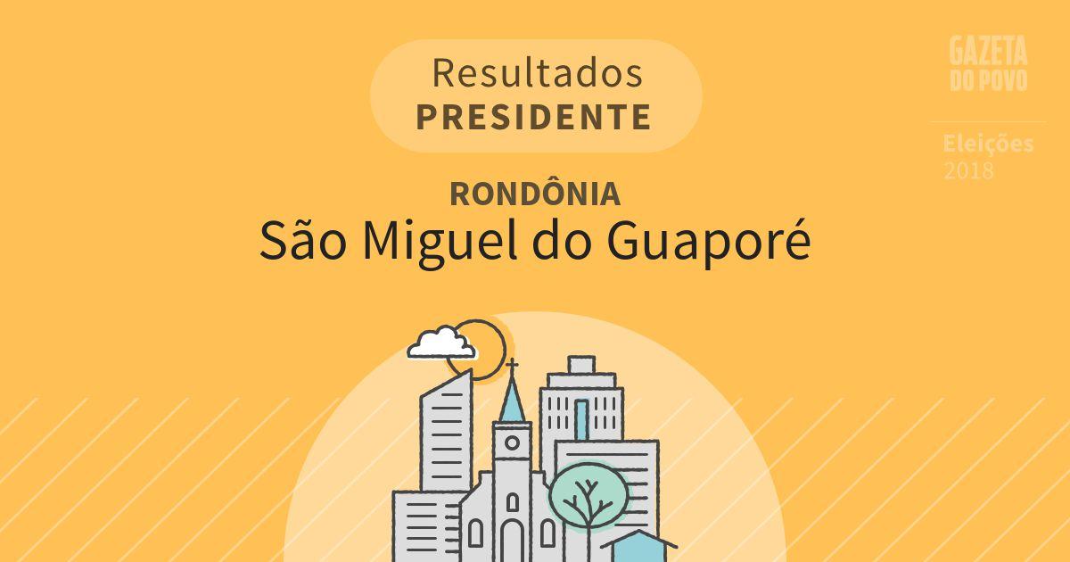 Resultados para Presidente em Rondônia em São Miguel do Guaporé (RO)