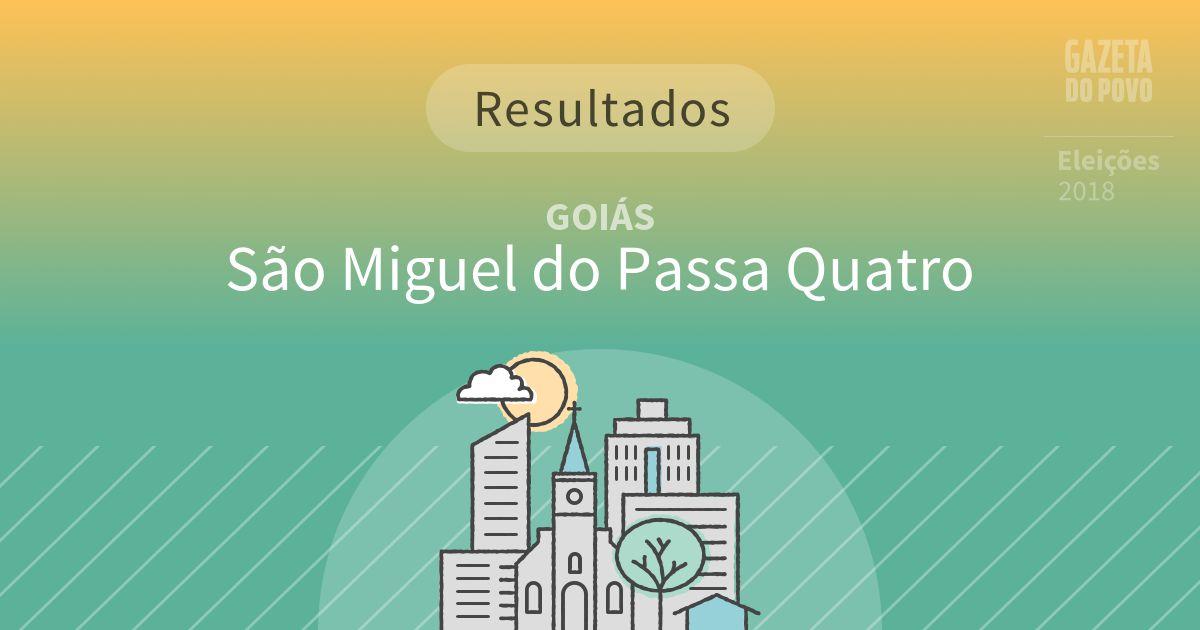 Resultados da votação em São Miguel do Passa Quatro (GO)