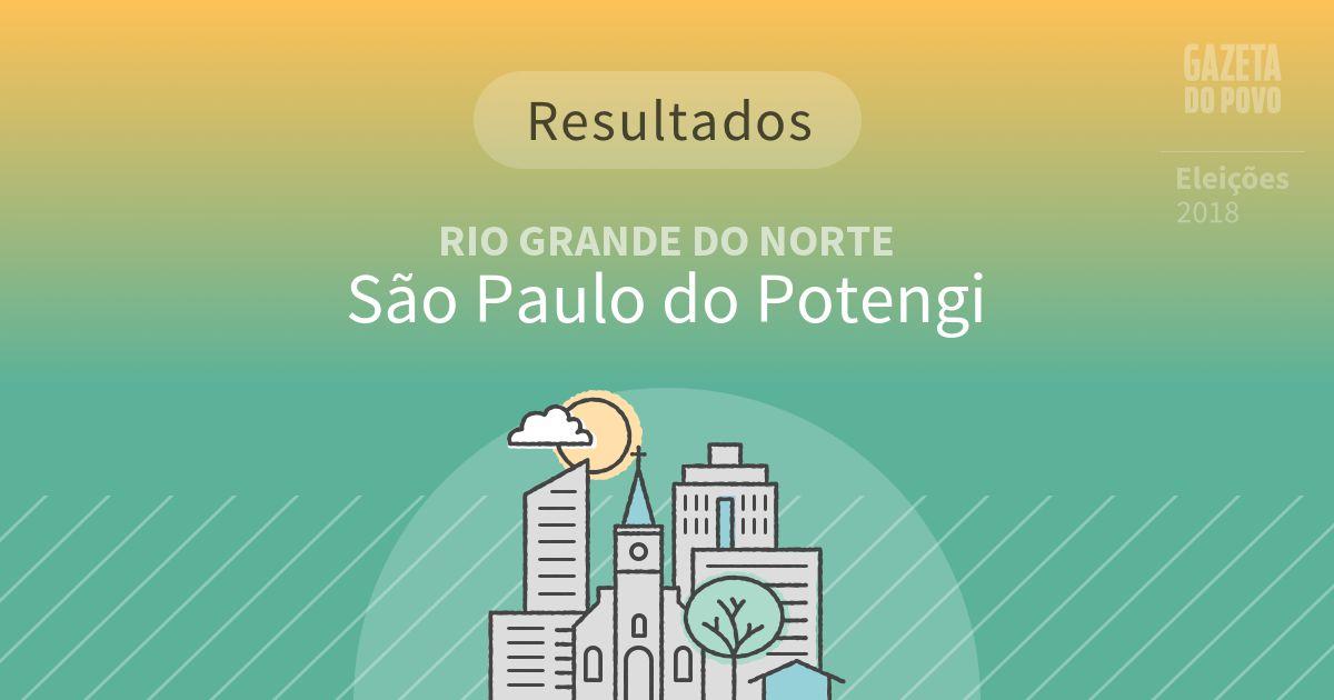Resultados da votação em São Paulo do Potengi (RN)