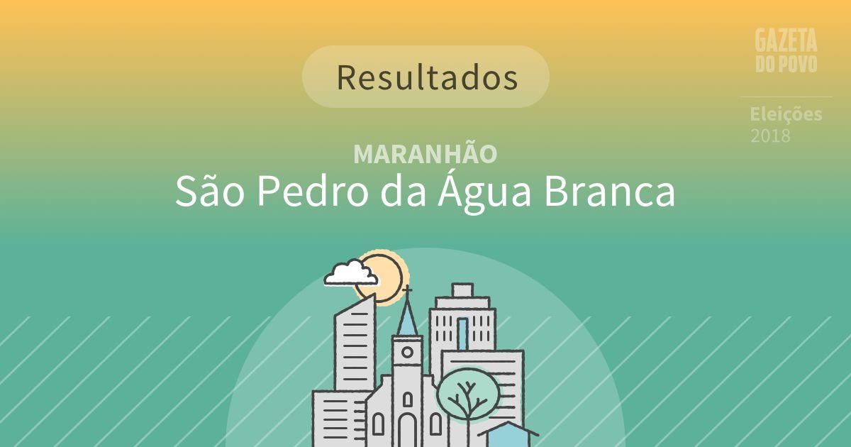 Resultados da votação em São Pedro da Água Branca (MA)