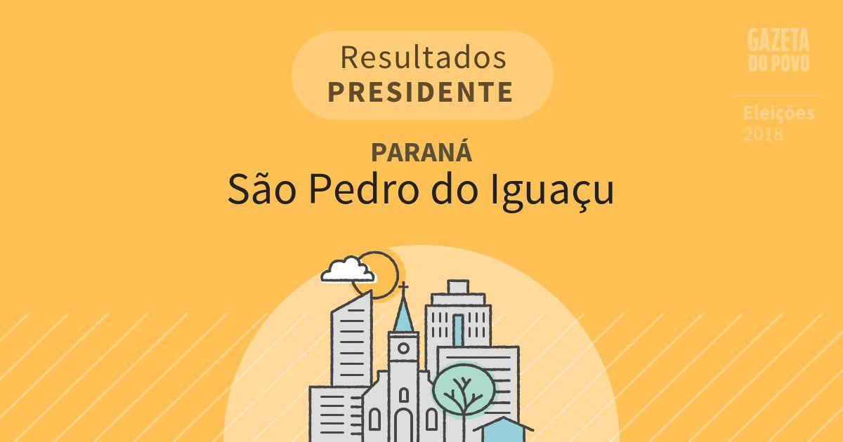 Resultados para Presidente no Paraná em São Pedro do Iguaçu (PR)