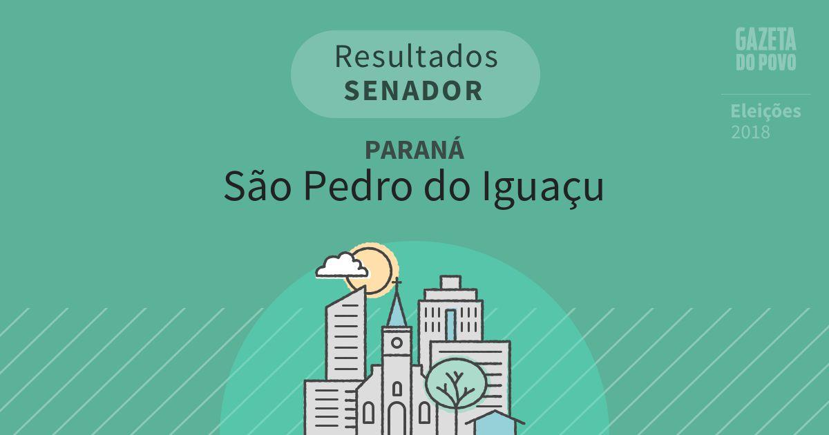 Resultados para Senador no Paraná em São Pedro do Iguaçu (PR)