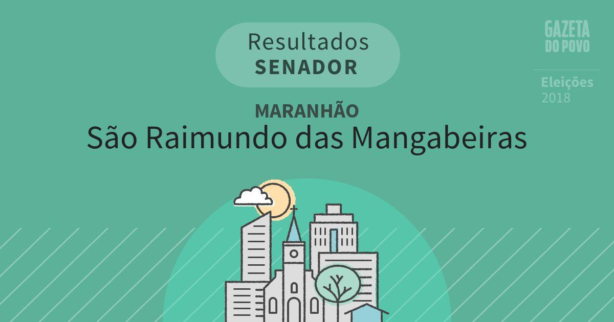 Resultados para Senador no Maranhão em São Raimundo das Mangabeiras (MA)