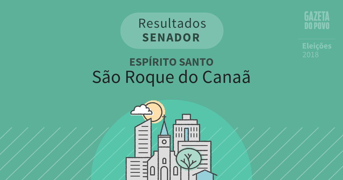 Resultados para Senador no Espírito Santo em São Roque do Canaã (ES)