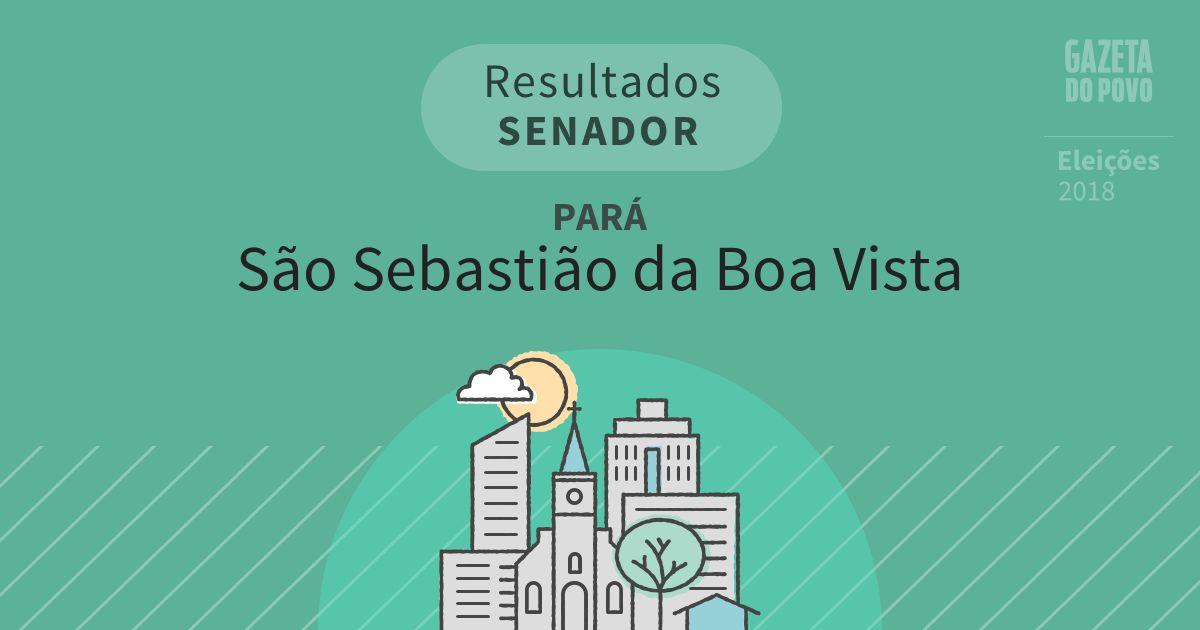 Resultados para Senador no Pará em São Sebastião da Boa Vista (PA)
