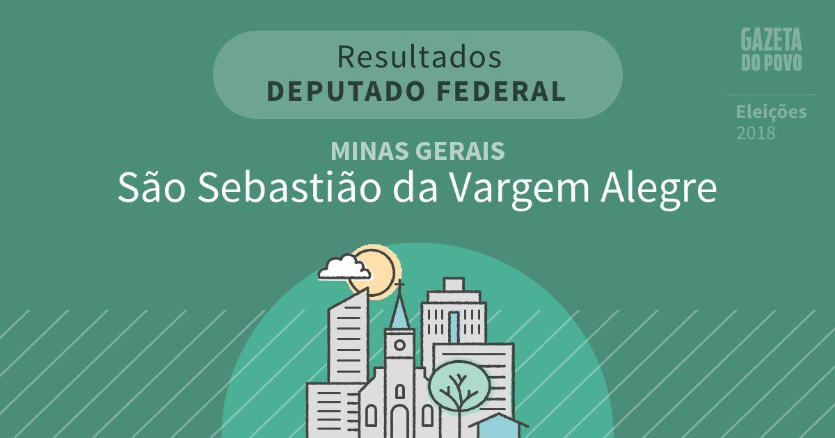 Resultados para Deputado Federal em Minas Gerais em São Sebastião da Vargem Alegre (MG)