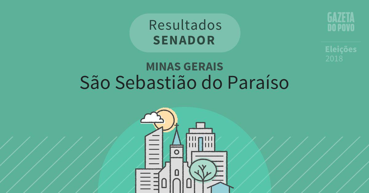 Resultados para Senador em Minas Gerais em São Sebastião do Paraíso (MG)