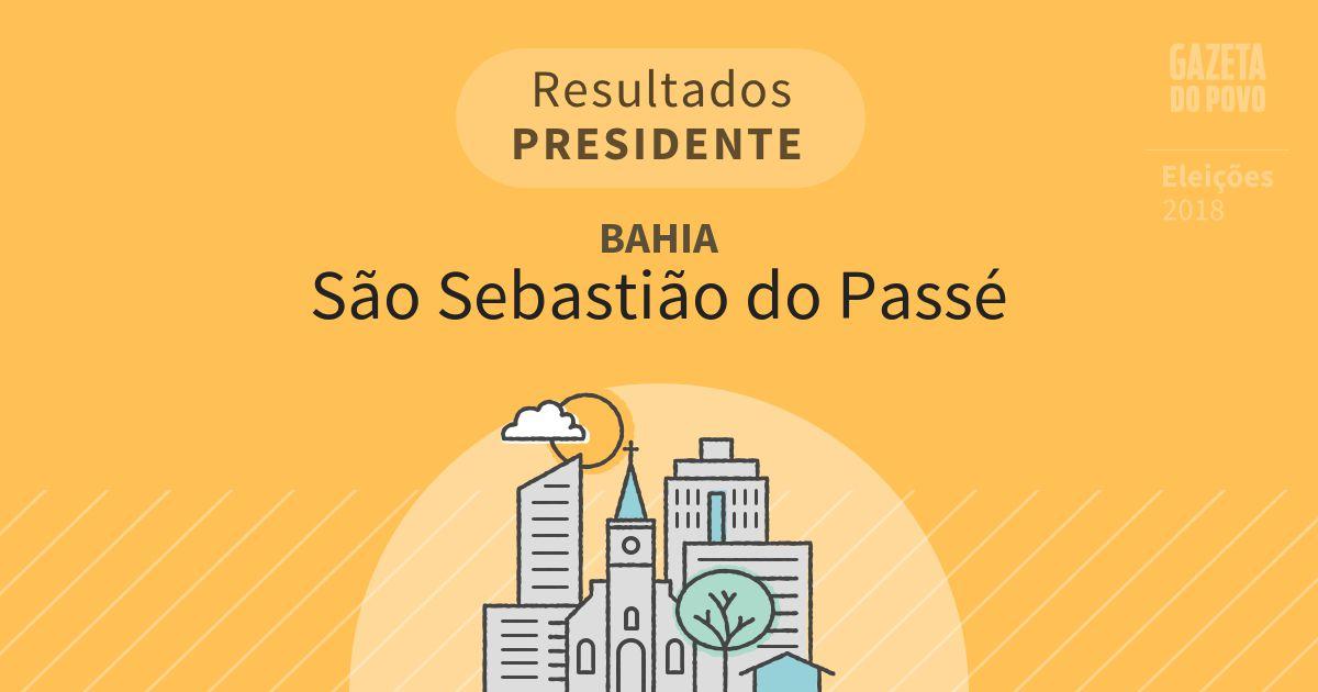 Resultados para Presidente na Bahia em São Sebastião do Passé (BA)