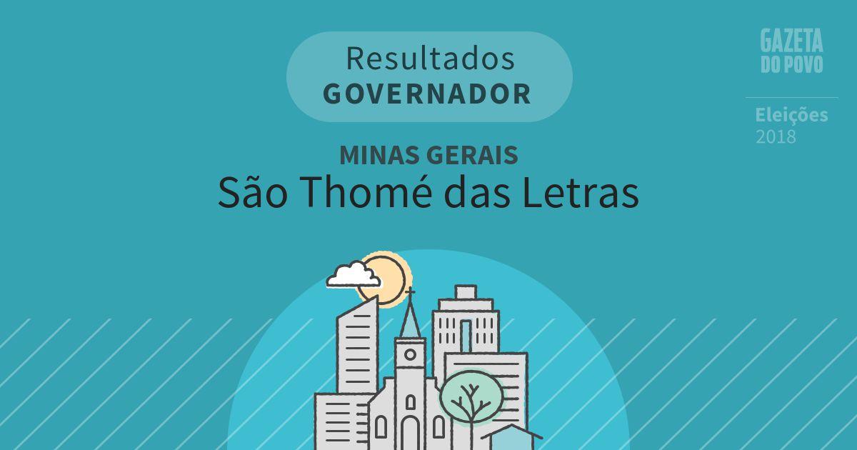 Resultados para Governador em Minas Gerais em São Thomé das Letras (MG)