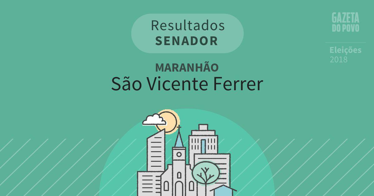 Resultados para Senador no Maranhão em São Vicente Ferrer (MA)