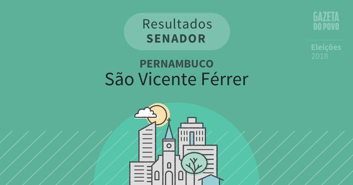 Resultados para Senador em Pernambuco em São Vicente Férrer (PE)