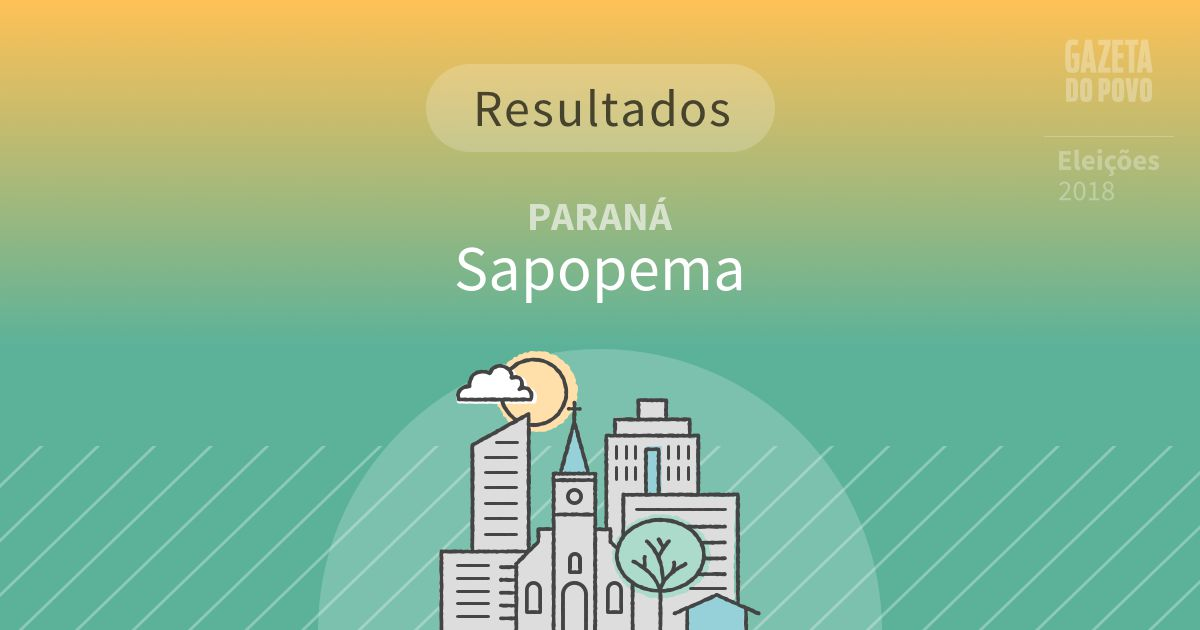 Resultados da votação em Sapopema (PR)