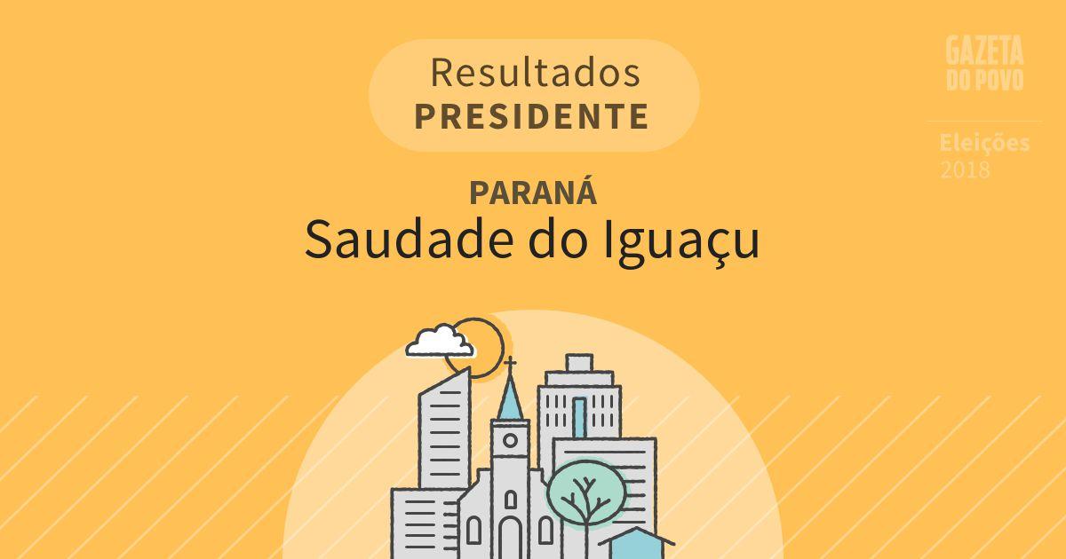 Resultados para Presidente no Paraná em Saudade do Iguaçu (PR)