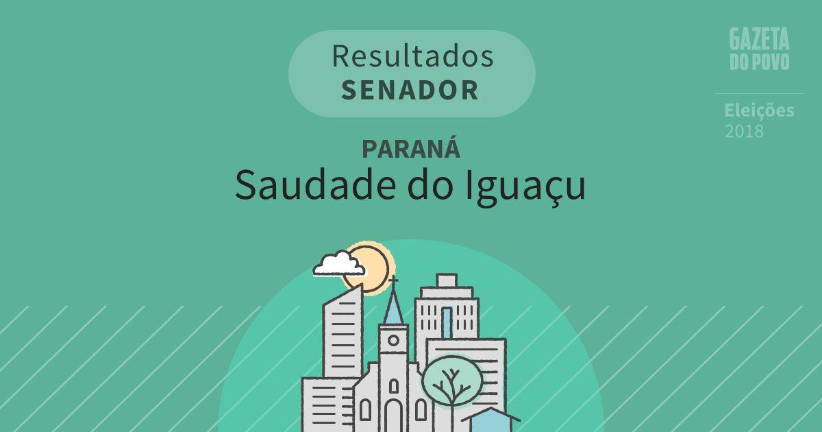 Resultados para Senador no Paraná em Saudade do Iguaçu (PR)
