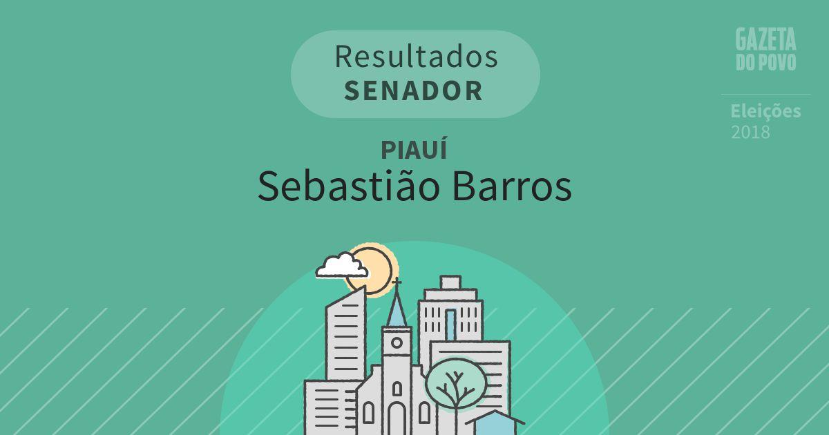 Resultados para Senador no Piauí em Sebastião Barros (PI)