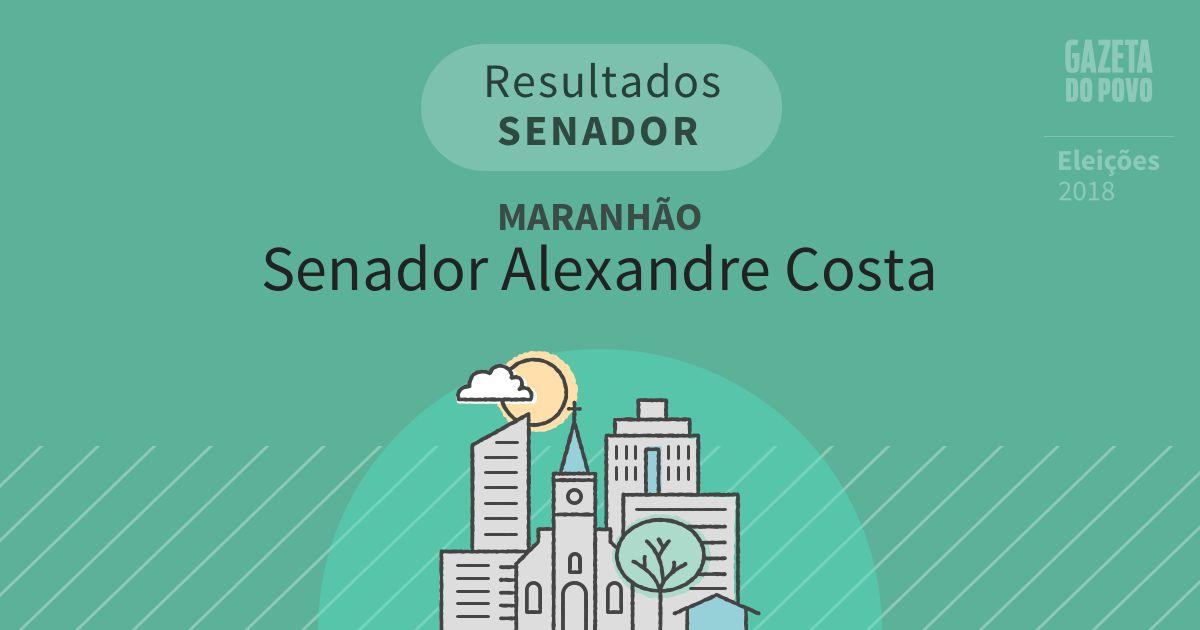 Resultados para Senador no Maranhão em Senador Alexandre Costa (MA)