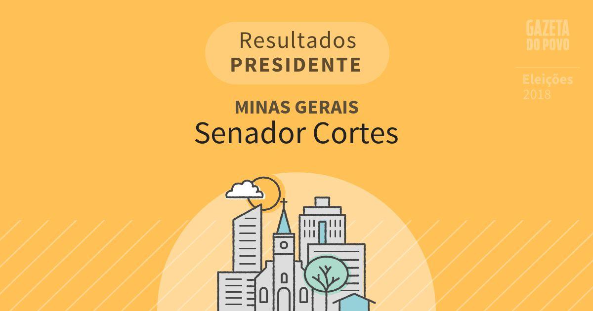 Resultados para Presidente em Minas Gerais em Senador Cortes (MG)