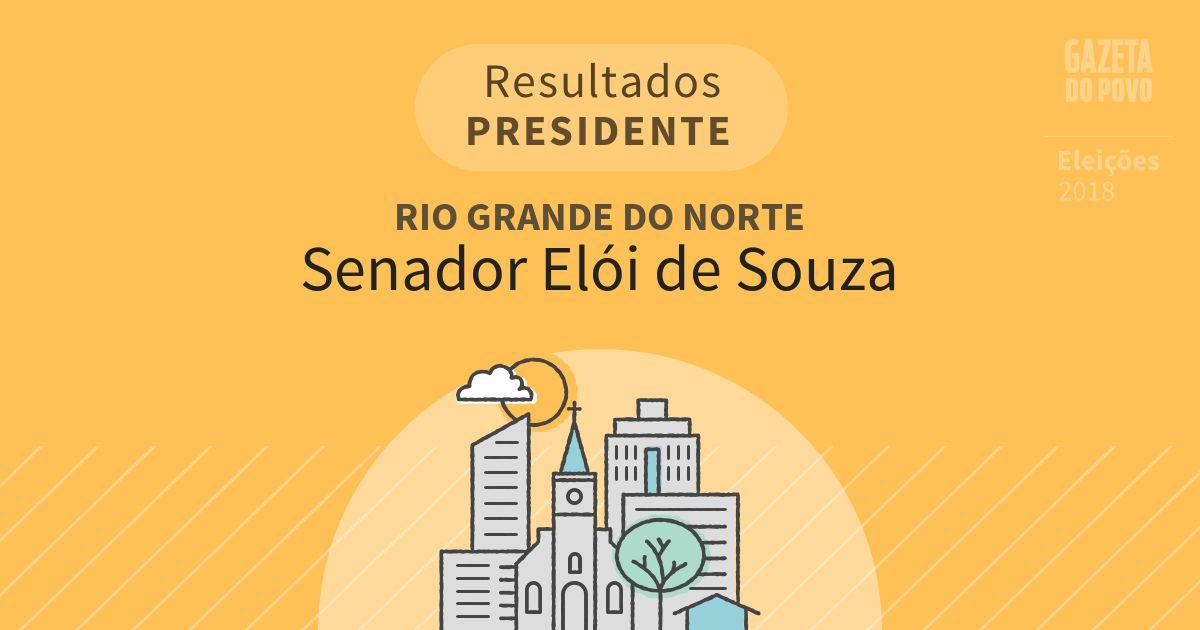 Resultados para Presidente no Rio Grande do Norte em Senador Elói de Souza (RN)