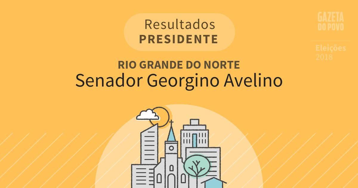 Resultados para Presidente no Rio Grande do Norte em Senador Georgino Avelino (RN)