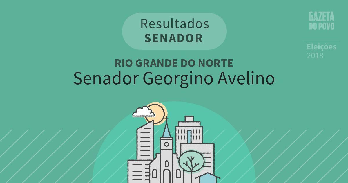 Resultados para Senador no Rio Grande do Norte em Senador Georgino Avelino (RN)
