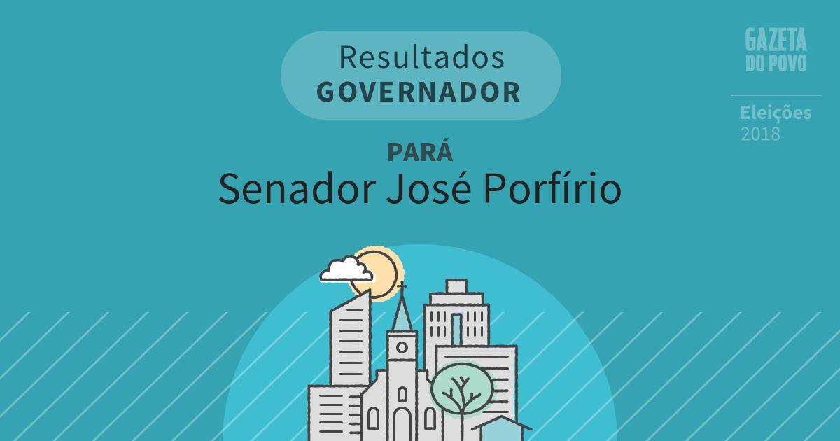 Resultados para Governador no Pará em Senador José Porfírio (PA)