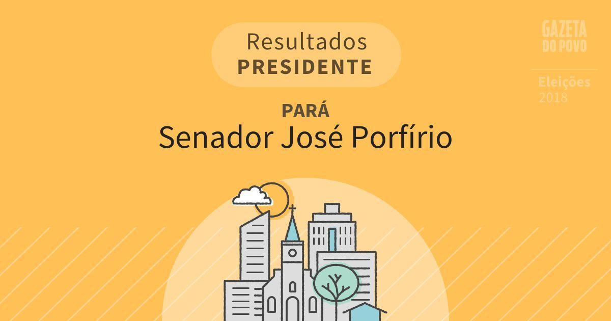 Resultados para Presidente no Pará em Senador José Porfírio (PA)