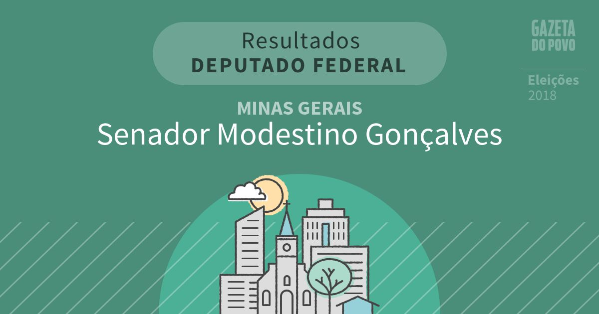 Resultados para Deputado Federal em Minas Gerais em Senador Modestino Gonçalves (MG)