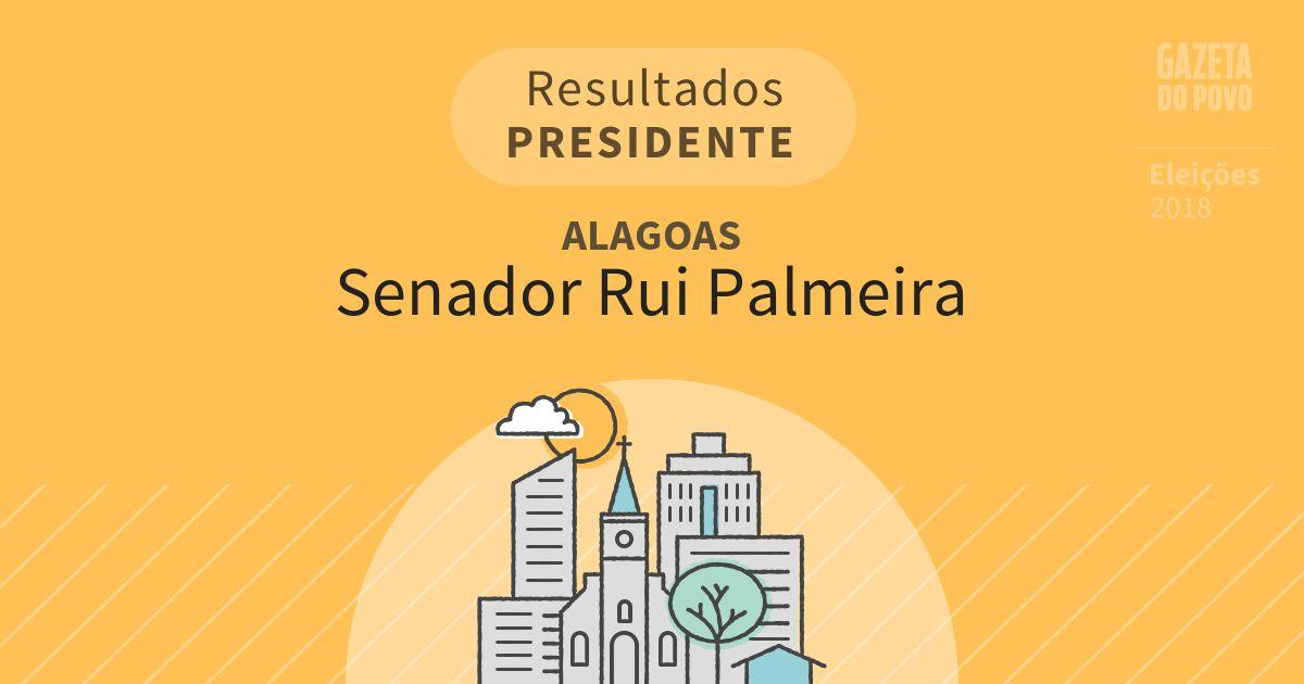 Resultados para Presidente em Alagoas em Senador Rui Palmeira (AL)