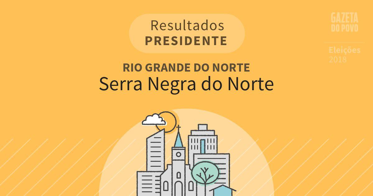 Resultados para Presidente no Rio Grande do Norte em Serra Negra do Norte (RN)