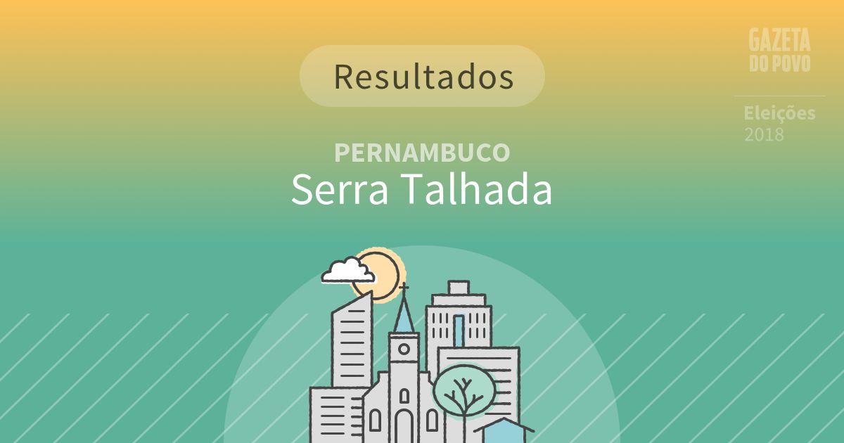 Resultados da votação em Serra Talhada (PE)