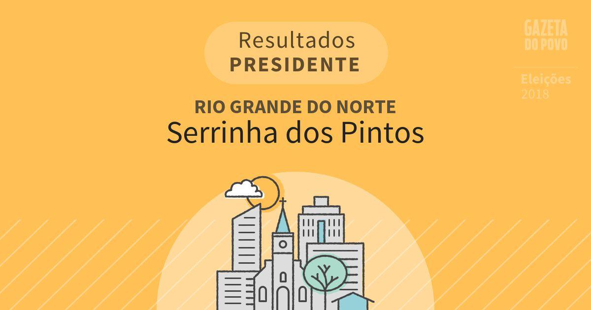 Resultados para Presidente no Rio Grande do Norte em Serrinha dos Pintos (RN)