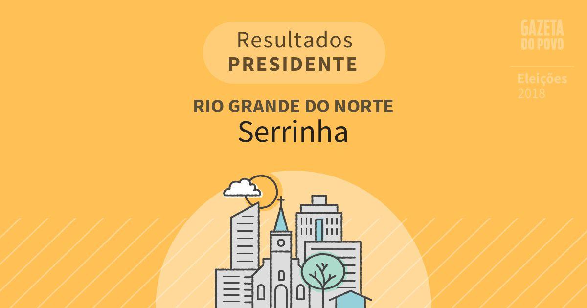 Resultados para Presidente no Rio Grande do Norte em Serrinha (RN)