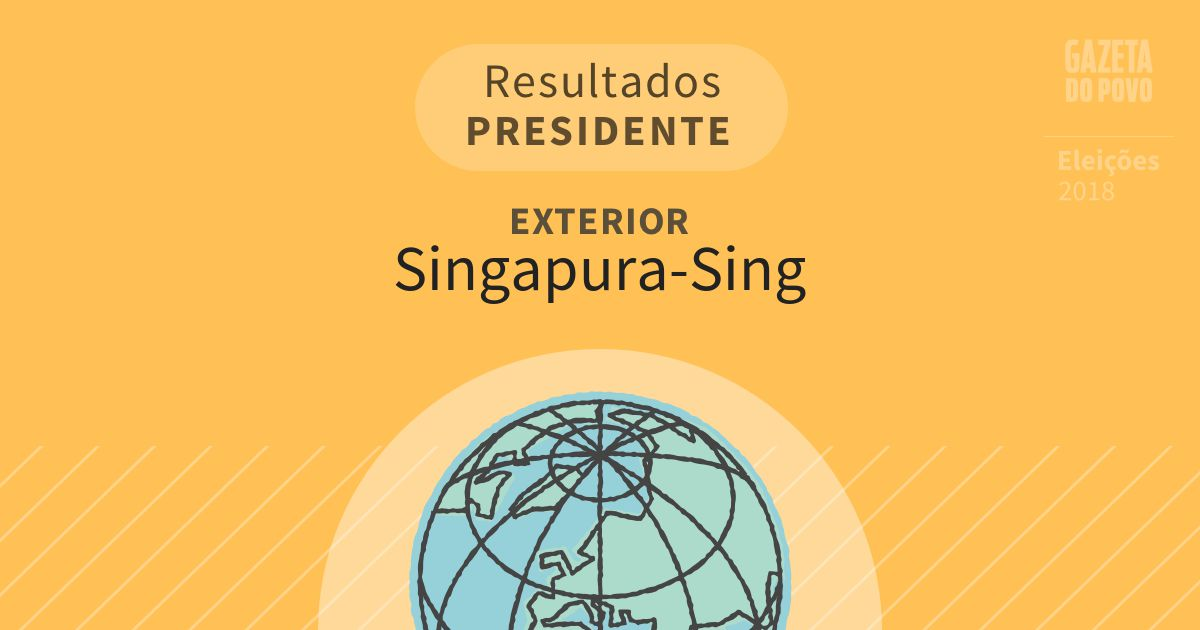 Resultados para Presidente no Exterior em Singapura-Sing (Exterior)