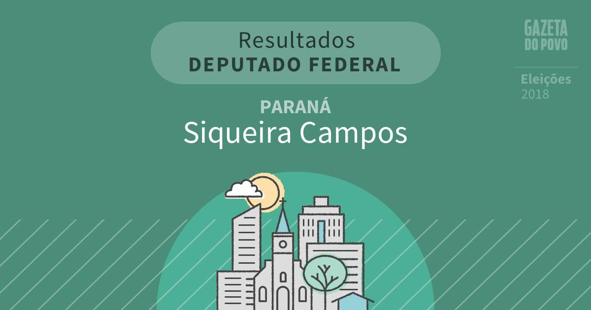 Resultados para Deputado Federal no Paraná em Siqueira Campos (PR)