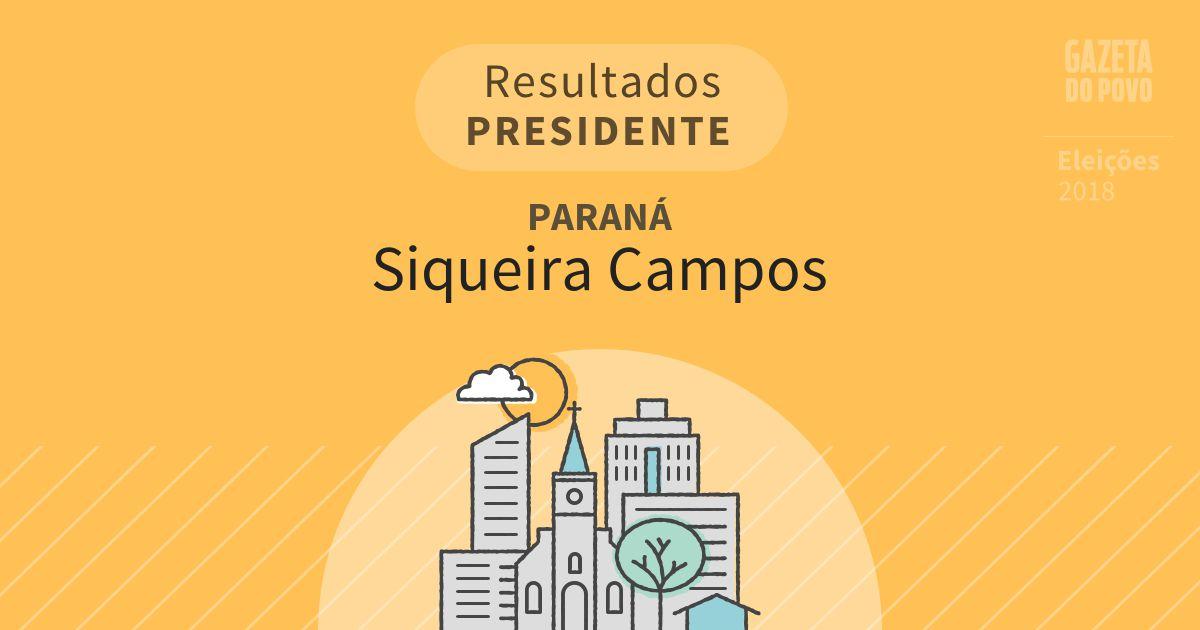 Resultados para Presidente no Paraná em Siqueira Campos (PR)