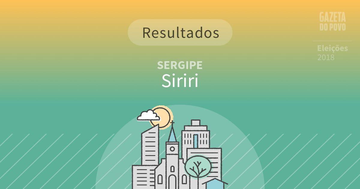 Resultados da votação em Siriri (SE)