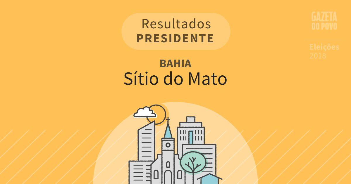 Resultados para Presidente na Bahia em Sítio do Mato (BA)