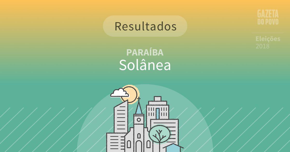 Resultados da votação em Solânea (PB)