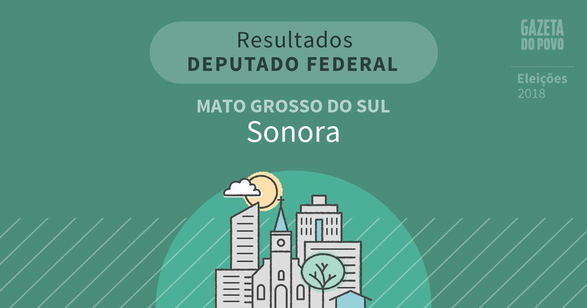 Resultados para Deputado Federal no Mato Grosso do Sul em Sonora (MS)