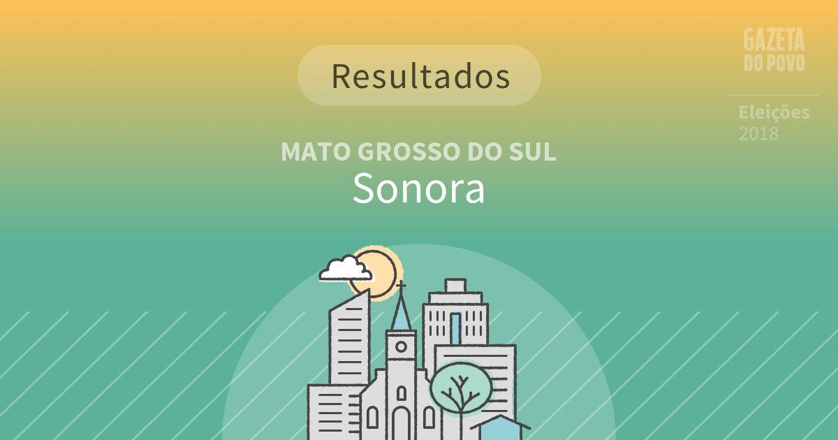 Resultados da votação em Sonora (MS)