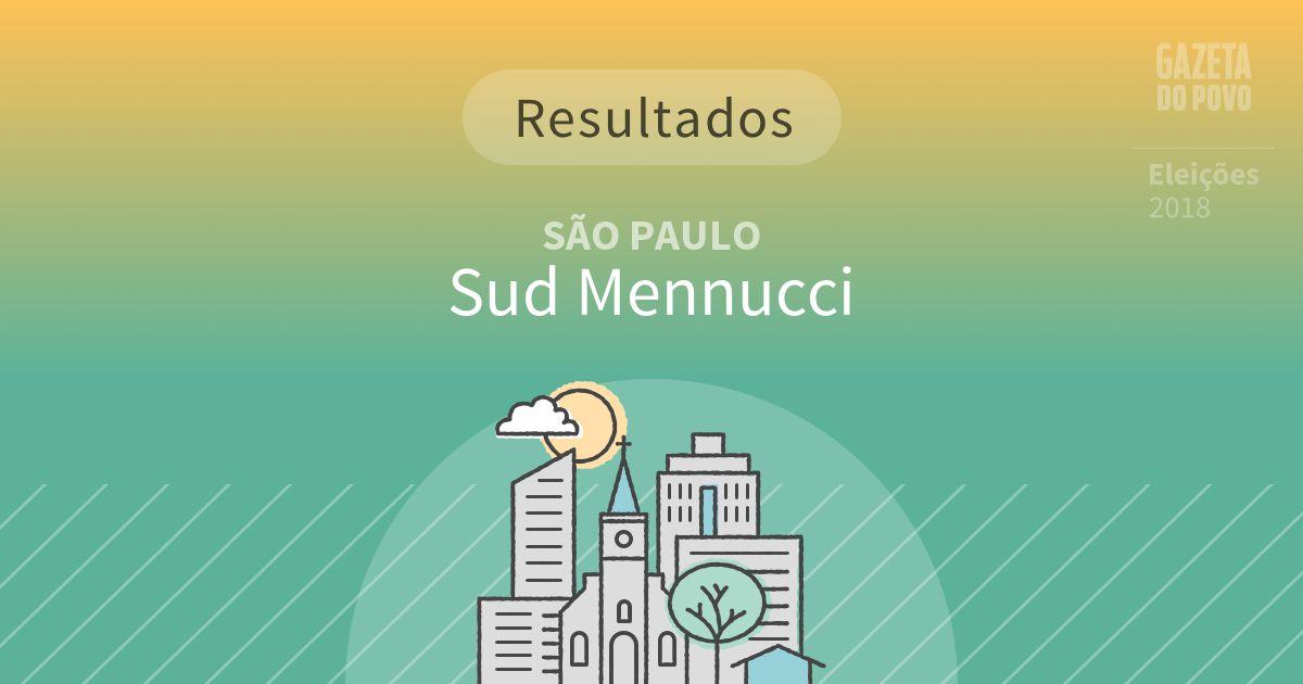 Resultados da votação em Sud Mennucci (SP)