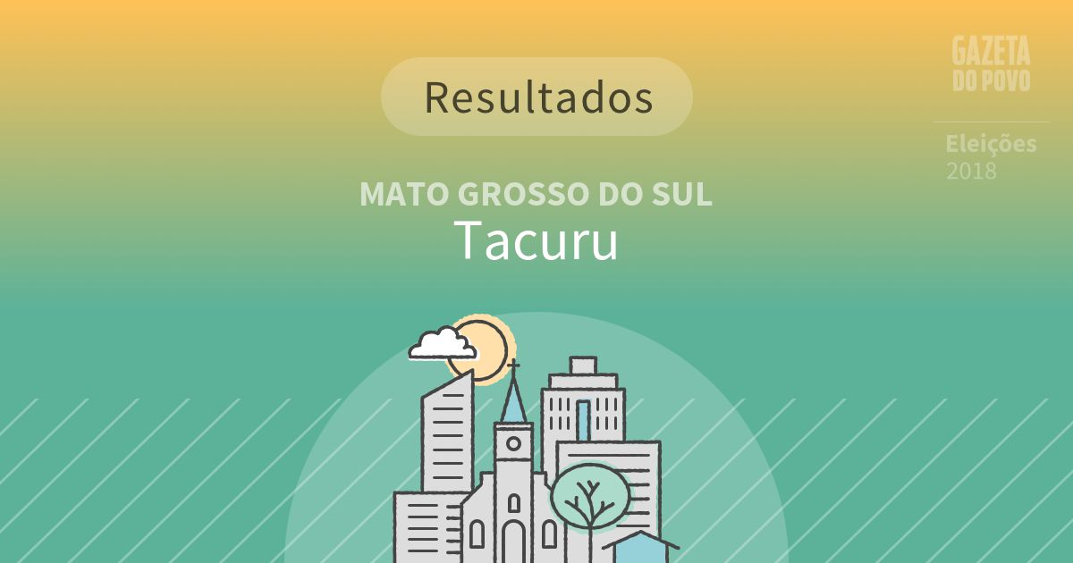 Resultados da votação em Tacuru (MS)
