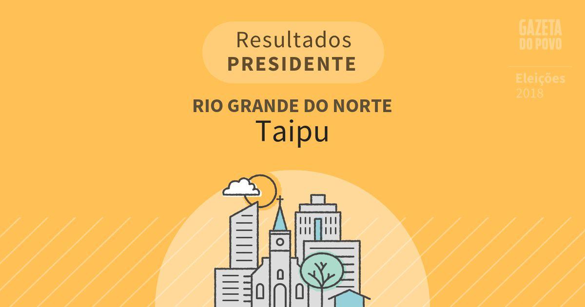 Resultados para Presidente no Rio Grande do Norte em Taipu (RN)