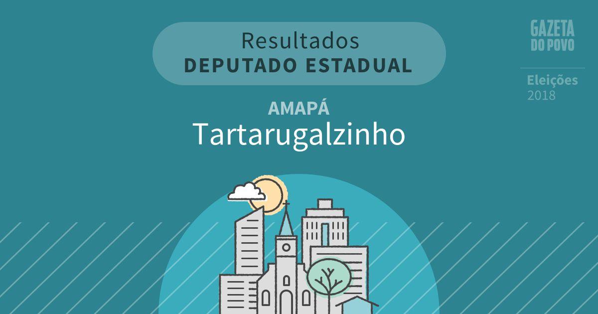 Resultados para Deputado Estadual no Amapá em Tartarugalzinho (AP)