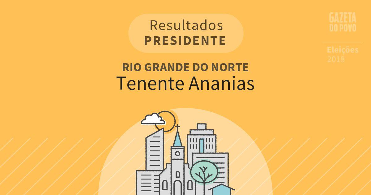 Resultados para Presidente no Rio Grande do Norte em Tenente Ananias (RN)