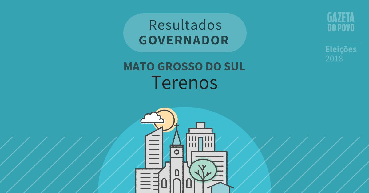 Resultados para Governador no Mato Grosso do Sul em Terenos (MS)