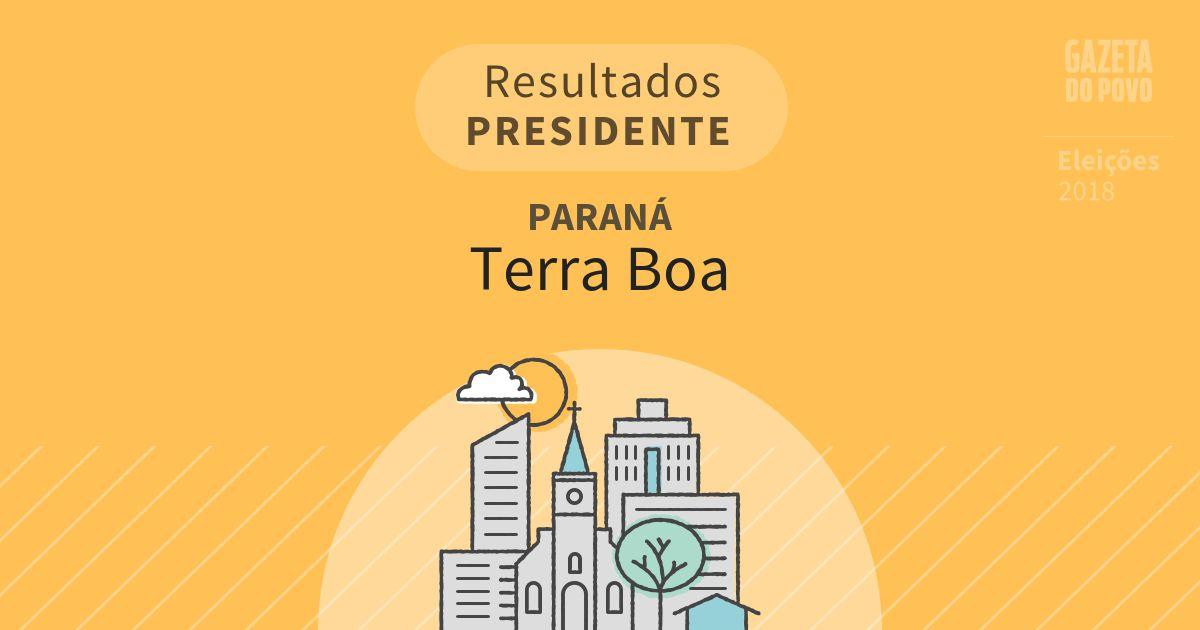 Resultados para Presidente no Paraná em Terra Boa (PR)