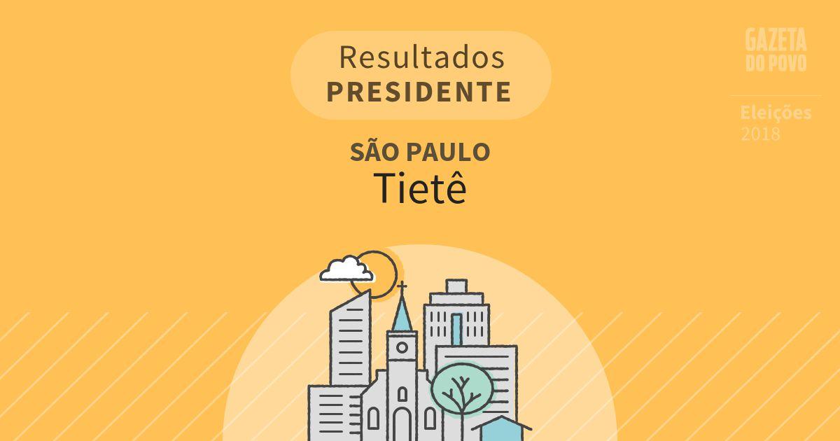 Resultados para Presidente em São Paulo em Tietê (SP)